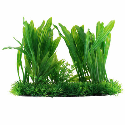 Aquarium Fish Tank Emulational Aquatic Grass Plant Lawn Landscape Decor Green