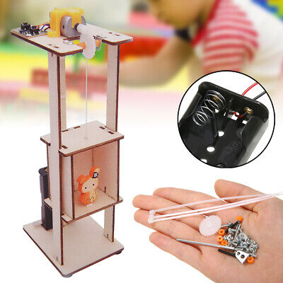Assemble DIY Electric Lift Kids Science Education Toys Experiment Material Kits