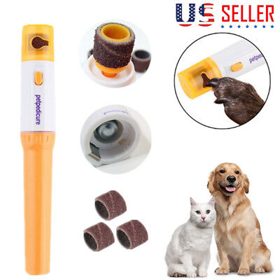 Pet Nail Care Trimmer Grooming Tool For Cat Dog Grinder Electric Clipper Tool IG