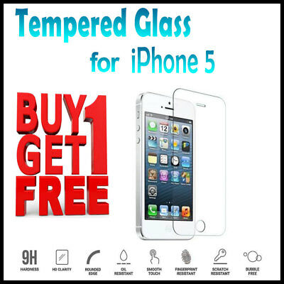 Genuine Tempered Glass Screen Protector Cover For Iphone Se 5 5S