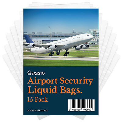 Savisto Clear Airport Security Liquids Bags Airline Travel Approved Toiletries