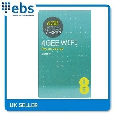 EE 4G Data Only Sim Card Preloaded With 6GB-500MB A Month For 12 Months