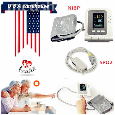 Digital Blood pressure monitor,,NIBP,Spo2 probe ,Electronic Sphygmomanometer,USA