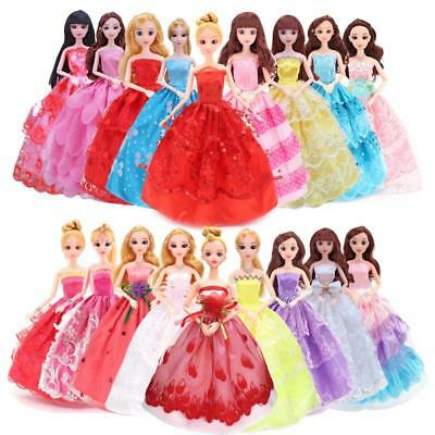 New Princess Party Dress/Evening Clothes/Gown For Barbie Doll Gifts Random #n