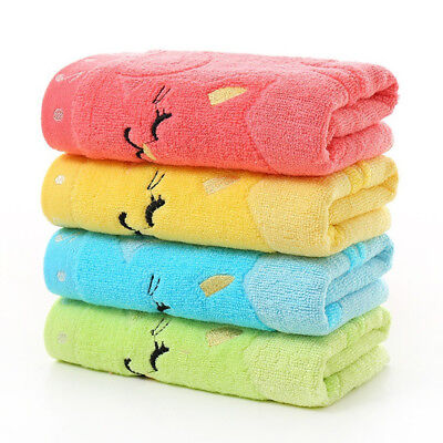 Cats Musical Note Kids Baby Soft Wash Towel Water Absorbing For Home Bath Shower