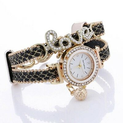 Fashion Casual Vintage Luxury Diamond Pendant Watch Ladies Valentine Day Present