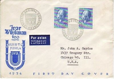 Finland - Events, Views, People, & Anniversaries (15no. FDC's) 1953-57