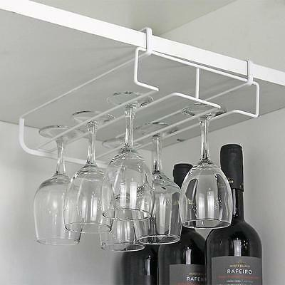 Handy Stainless Steel Bar Champagne Wine Glasses Holder Rack Wall Hanging #n