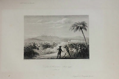 Egypt,abu Mena, Combat, Original Engraving,rebel 1836.