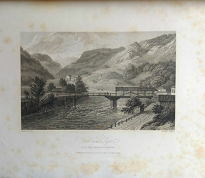 Italia, South Tytol, Grabado Original De Hakewill, 1820