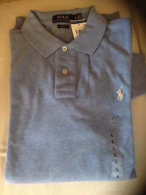 NWT POLO BY RALPH LAUREN Classic Fit Men's Long Sleeves Shirt Large or XL Blue
