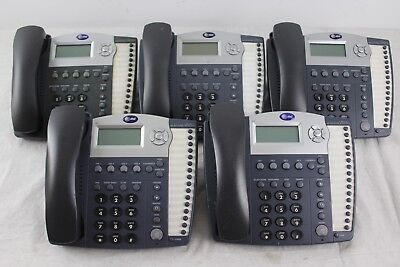 Lot of 5 AT&T 945 4-Line Small Business System Office Phones W/ Grey Handsets