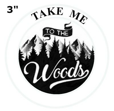 Take me to the Woods Patch Iron Sew-On Embroidered Souvenir Travel Explore