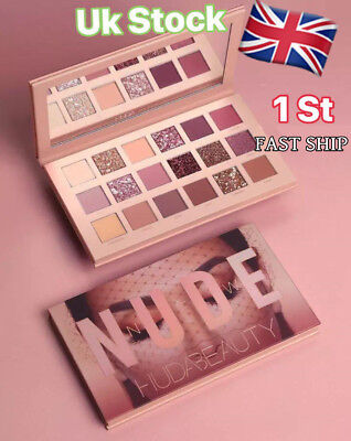 2018 New Huda Beauty The Nude Matte 18 Colors Eye Shadows Palette Make Up Gifts