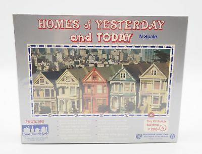 Your Town U.S.A Homes Of Yesterday And Today N Scale #200-5 New In Sealed Box