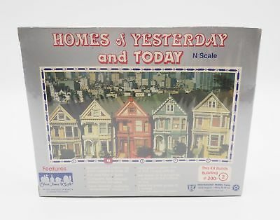 Your Town U.S.A Homes Of Yesterday And Today N Scale #200-2 New In Sealed Box