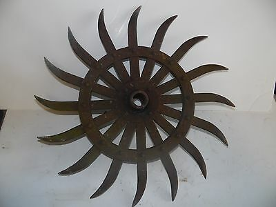 John Deere Tractor Antique/Rustic, Yard/Garden Art, Steam Punk, Rotary Hoe Wheel