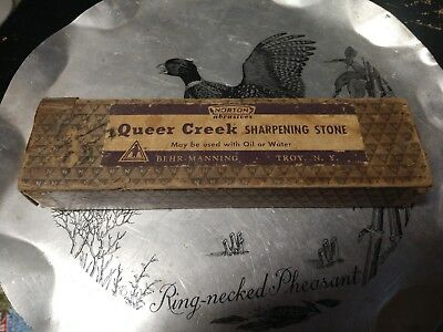 "Vintage Norton Queer Creek KB7 Sharpening Stone 7"" x 2"" x 3/4"" Behr Manning"