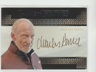 Game Of Thrones Autograph Auto Card Charles Dance Signed Tywin Lannister