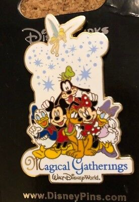 walt disney world trading pin magical gatherings tinker bell minnie goofy pluto