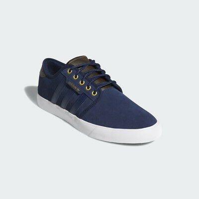 online store bf1e7 cea73 Adidas Seeley Navy  White Suede Mens Originals Trainers UK 9.5