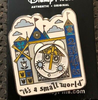 disney trading pin It's a Small World attraction ride disneyland souvenir clock