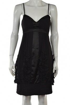 be45c4500df Sue Wong Dress Size 0 Black Sheath Silk Bow Above Knee Cocktail Sleeveless