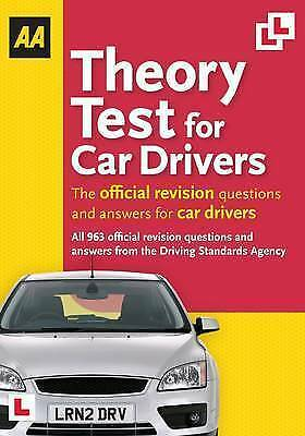 Theory Test for Car Drivers (Aa Driving Test), AA Publishing, Very Good Book