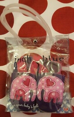 Inch Blue baby shoes pink purple size small 0-6 months