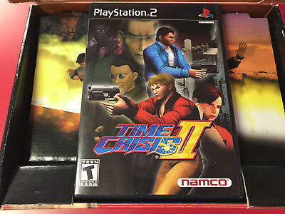 Time Crisis II + Guncon 2 (Sony PlayStation 2) PS2 - Comes in TC3 Big Box!