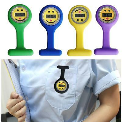 New Colourful Digital Silicone Rubber Nurse Watch Fob Smile Watch Xmas Gift