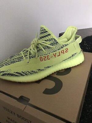 422671f6643 ADIDAS YEEZY BOOST 350 V2 Semi Frozen Yellow B37572 Mens Size 9.5 ...