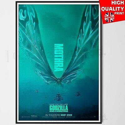 Godzilla King Of The Monsters Movie Film Poster Print Mothra | A4 A3 A2 A1 |