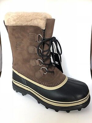 NIB Sorel Men's Caribou Winter Boots -40C/-40F Bruno WATERPROOF Brown Pick Size