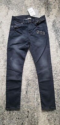NWT ZARA BOYS  Black Skinny Denim Jeans Size 10