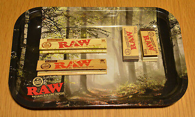 RAW Smokey forest Rolling tray + 2x Papers + 2x Roach books