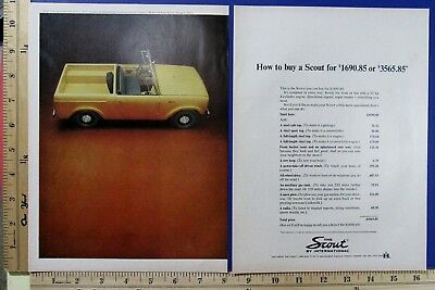 1964 INTERNATIONAL Scout 4-WD motor car truck 2-Page Vtg Magazine Print Ad 10242