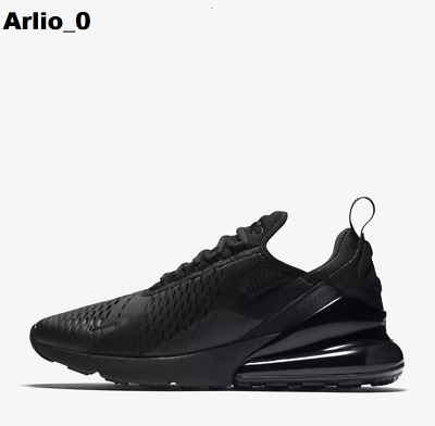 Men's Nike Air Max 270 Casual Shoes Triple Black - Ah8050 005