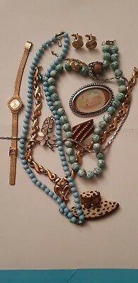 collection,job lot of vintage costume jewellery#21