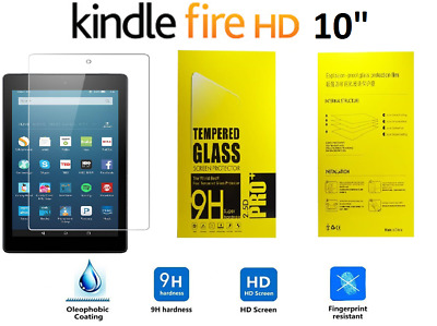 """Genuine Tempered Glass Screen Protector For AMAZON KINDLE FIRE HD10.1"""" (2017)"""