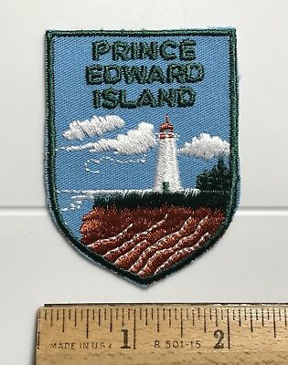 Prince Edward Island PEI Canada Lighthouse Souvenir Embroidered Patch Badge