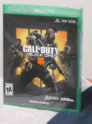 Call of Duty Black Ops 4 IIII XBOX 1 BRAND NEW Factory Sealed! XB1 FREE Ship!