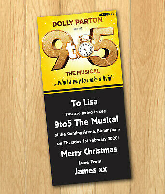 9 to 5 The Musical Gift Card Voucher Present Christmas Birthday Ticket