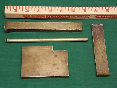Lot of brass flat bars and round rod. VERY worn.