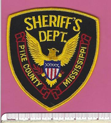 Pike County MS State Mississippi Sheriff Dept Stock Eagle Police Shoulder Patch