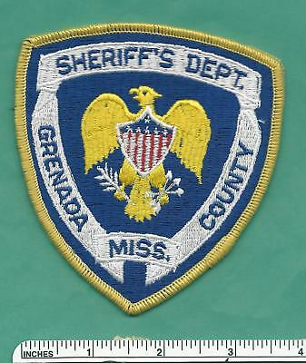 Grenada County MS State of Mississippi Sheriff Dept Police Shoulder Patch - V#2