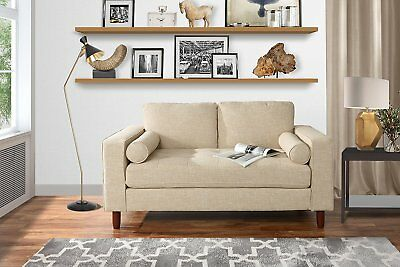 MODERN SMALL SPACE Loveseat Sofa with Tufted Fabric - Living ...