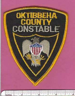 Oktibbeha County MS State of Mississippi Law Enf Constable Police Shoulder Patch