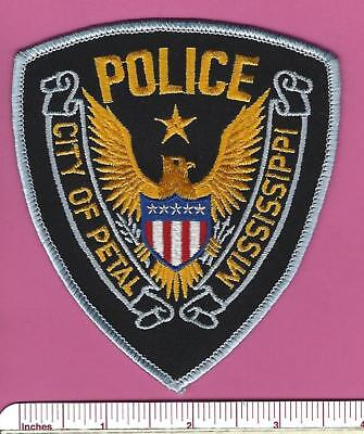 Petal MS State of Mississippi Stock Eagle Police Shoulder Patch - Forrest County