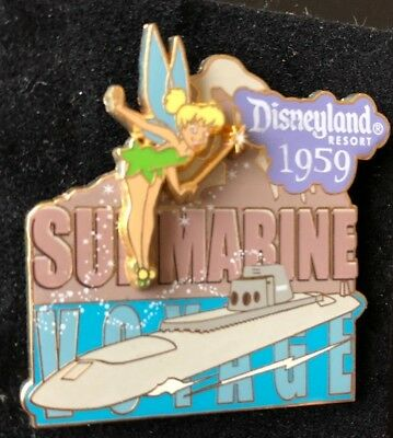 disney trading pin limited edition vintage tinker bell submarine ride voyage 59